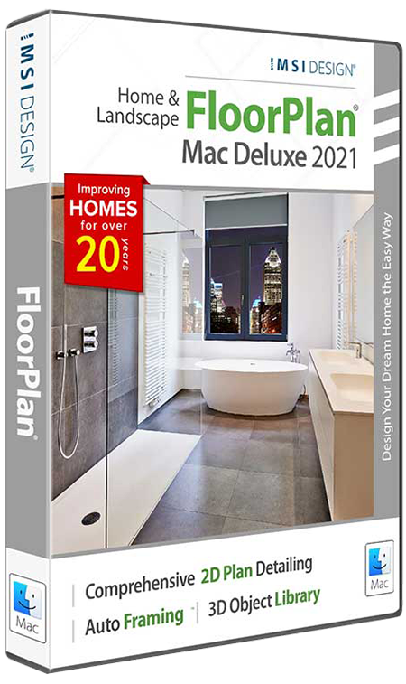 FloorPlan Home & Landscape Deluxe Mac 2021